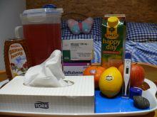 Influbene, gyümölcshegyek és napi 4 liter tea